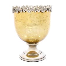 Melany Antik Gold Oval Vazo Küçük Boy