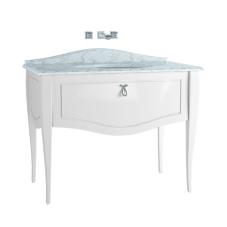 Elegance Lavabo Dolabı 100 cm Tezgahaltı Lavabolu Mermersiz Krom Kulplu Mat Beyaz
