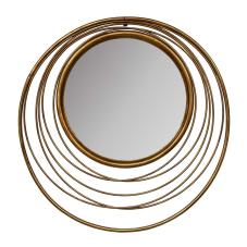 Gold Halkalı Duvar Aynası