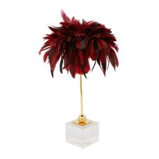 Bella Kırmızı Tüylü Dekoratif Obje