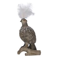 Lima Dalda Tüylü Kuş Biblo