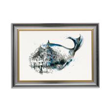 Balık ve Manzara Dekoratif Çerçeveli Tablo