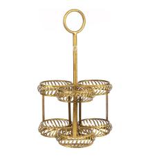 Lux Gold 3Lü Dekoratif Mumluk