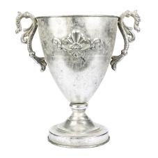 Margari Gümüş Metal Kupa Vazo