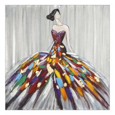 Doru Renkli Elbiseli Kadın Tablo