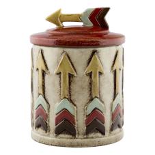 Slim Ok Figürlü Kapaklı Dekoratif Vazo