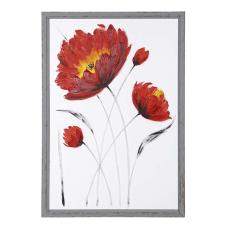 Doru Çiçek Desen Şeffaf Dekoratif Tablo