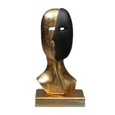 Gold Black Face Biblo