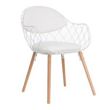 Orki Beyaz Ahşap Ayaklı Sandalye