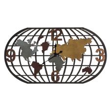 Cool Renkli Dünya Metal Duvar Saati