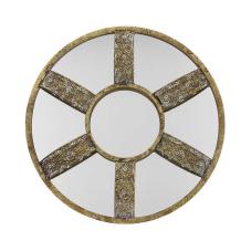Lux Bronz Telkari Bölmeli Duvar Aynası