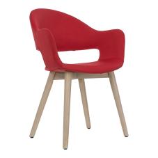 Gelso Kırmızı Ahşap Ayaklı Sandalye