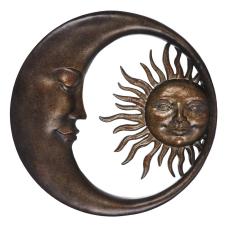 Saga Bronz Ay Duvar Aynası