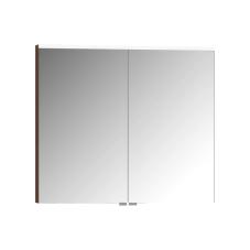 Premium Dolaplı Ayna 80 cm Koyu Meşe