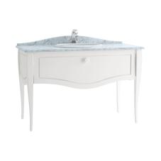 Elegance Lavabo Dolabı 120 cm Tezgahüstü Lavabolu Mermersiz, Beyaz Seramik Kulplu Mat Beyaz