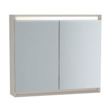 Frame Dolaplı Ayna 80 cm Mat Soft Bej