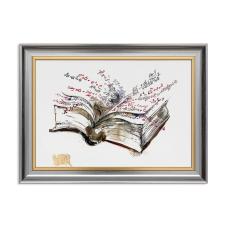 Kitap ve Formüller Dekoratif Çerçeveli Tablo
