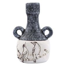 Soil Seramik Kuş Desenli Dekoratif Vazo