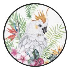 Pera Papağan Oval Dekoratif Tablo