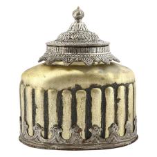 Kanta Antik Metal Kubbeli Vazo Küçük Boy