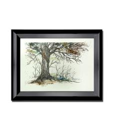 Ağaç Dalları Dekoratif Çerçeveli Tablo