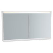 Frame Dolaplı Ayna 120 cm Mat Soft Beyaz