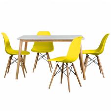 Aqua-S Sarı Masa Sandalye Seti