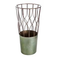 Lux Yeşil Metal Dekoratif Vazo