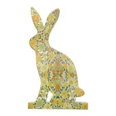 Şiva Çiçek Desenli Dekoratif Tavşan Büyük Boy Yeşil
