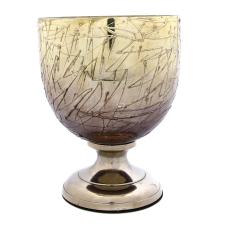 Melany Antik Gümüş Oval Vazo Küçük Boy