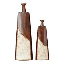 Pera 2Li Metal Piramit Dekoratif Vazo