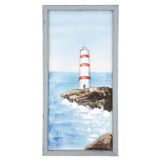 Pera Kırmızı Deniz Feneri Dekoratif Tablo