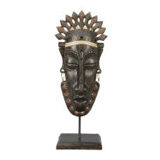 Lima Afrikalı Aborjin Maske Biblo