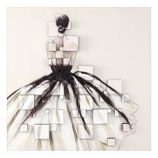 Dore 3 Boyutlu Füme Elbiseli Kadın Tablo