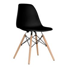 Aqua Siyah Ahşap Ayaklı Sandalye