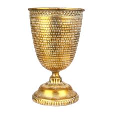 Marial Gold Metal Ayaklı Vazo