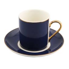 Style 6'lı Lacivert Kahve Fincan Takımı