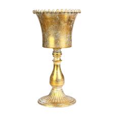 Margari Gold Metal Ayaklı Vazo