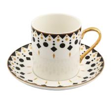 Style 6'lı Desenli Kahve Fincan Takımı