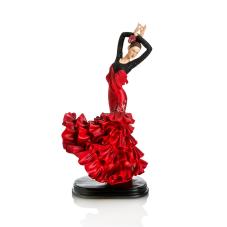 Bella Flamengo Dansı Alkış Figürlü Kadın Biblo