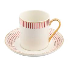 Style 6'lı Çizgili Kahve Fincan Takımı