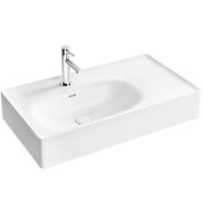 Equal Asimetrik Standart Lavabo 80 cm Beyaz