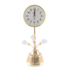 Dalen Gold Kristal Taşlı Masa Saati