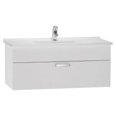 S50 Lavabo Dolabı 100 cm Tek Çekmeceli Parlak Beyaz