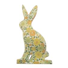 Şiva Çiçek Desenli Dekoratif Tavşan Küçük Boy Yeşil