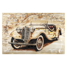 Doru Sarı Antik Araba Tablo