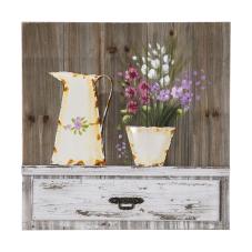 Doru Kırçiçeği Ahşap Dekoratif Tablo