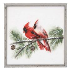 Pera Kırmızı Papağanlar Dekoratif Tablo