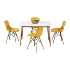 Maya Sarı Masa Sandalye Seti