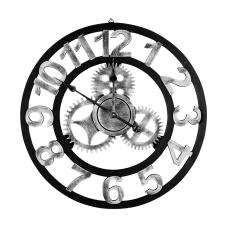 Cool Mekanik Model Siyah Ahşap Duvar Saati